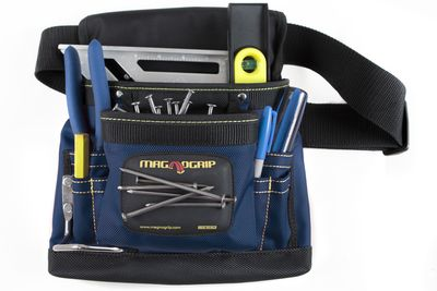 8-Pocket Magnetic Tool Pouch - Navy Blue